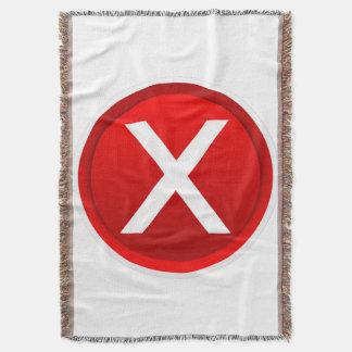 X rojo - Ningún/símbolo incorrecto Manta