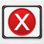 X rojo - Ningún/símbolo incorrecto Tapete De Ratones
