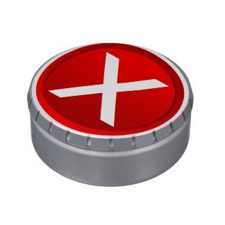 X rojo - Ningún - símbolo Jarrones De Dulces