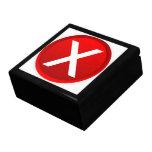 X rojo - Ningún - símbolo Caja De Regalo Cuadrada Grande