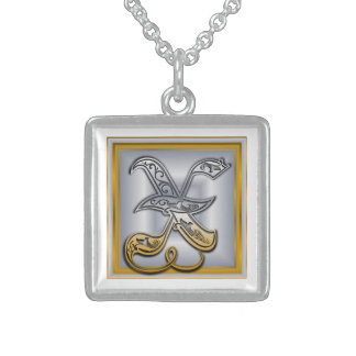 X Royal Initial Monogram Necklace