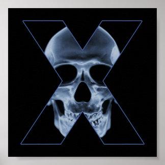 X-Skull Poster