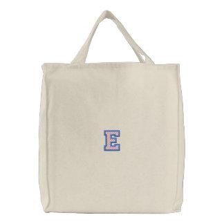 """X-Stitch """"E"""" Canvas Bag"""