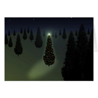 X-Tree Green Greeting Card
