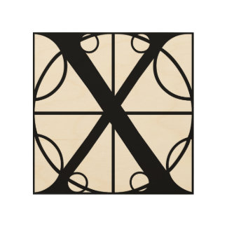 X- Typography Initial Wood Wall Art