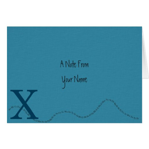 X - Una nota de la tarjeta de nota (azul)