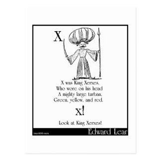 X was King Xerxes Postcard