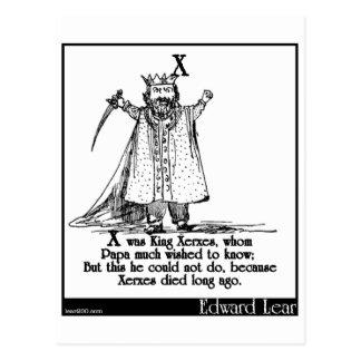 X was King Xerxes, whom Postcard