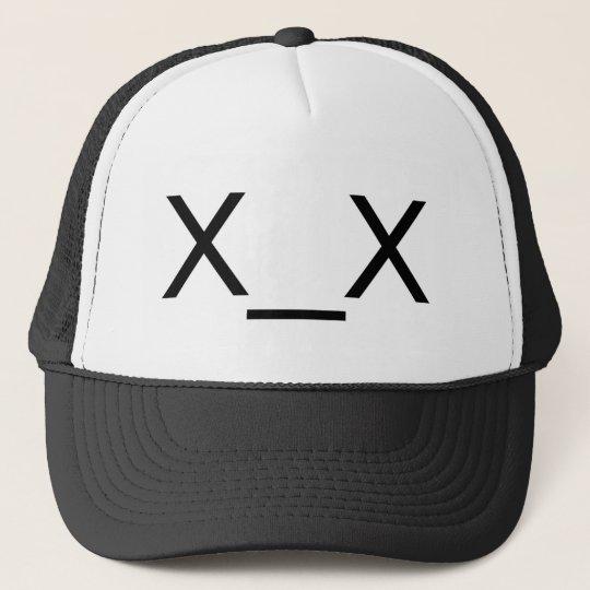 X X Dead Emoticon Hat Zazzle Com