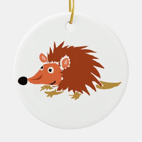 XA- Funny Hedgehog Primitive Art Cartoon Ceramic Ornament