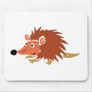 XA- Funny Hedgehog Primitive Art Cartoon Mouse Pad