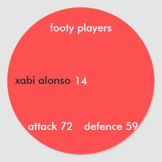 xabi alonso, footy players, attack... - Customized Classic Round Sticker