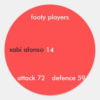 xabi Alonso, jugadores footy, ataque… - Modificado Pegatina Redonda