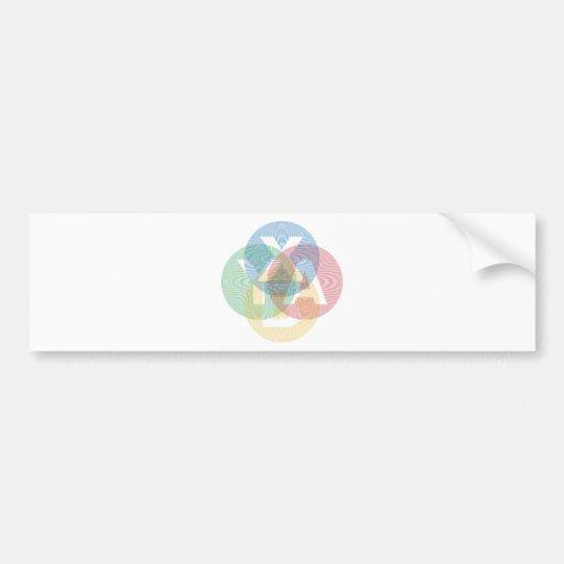 XABY coloreado Etiqueta De Parachoque