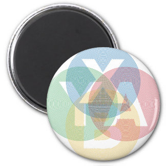 XABY Colored 2 Inch Round Magnet