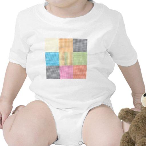 Xadrez colorido tshirts