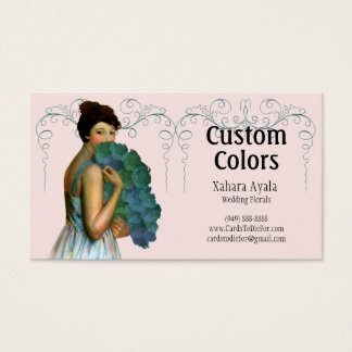 Xahara in Aqua, Green, Pink and Teal Business Card