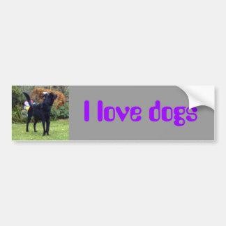 Xander 2 copy, I love dogs Bumper Sticker