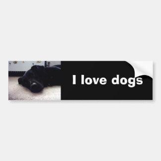 Xander 4 copy, I love dogs Bumper Sticker
