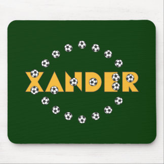 Xander in Soccer Gold Mouse Pad