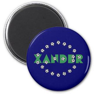 Xander in Soccer Green 2 Inch Round Magnet