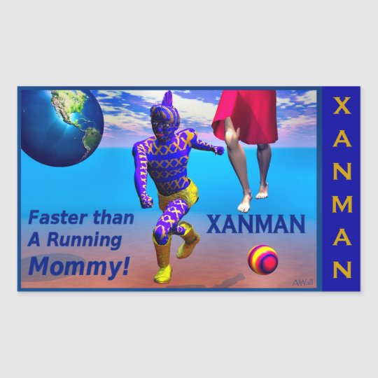 XANMAN~FASTER! Sticker