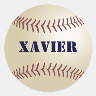 Xavier Baseball Sticker / Seal