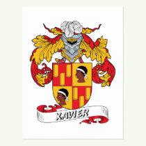 Xavier Family Crest Postcard
