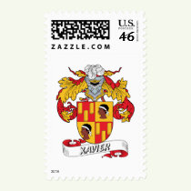 Xavier Family Crest Stamps
