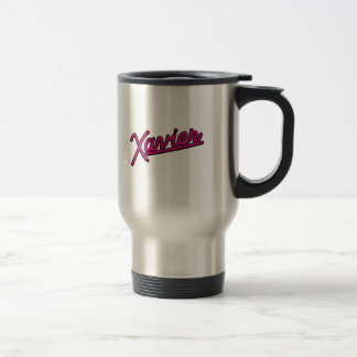 Xavier in magenta 15 oz stainless steel travel mug