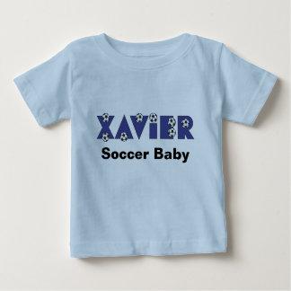 Xavier in Soccer Blue Baby T-Shirt