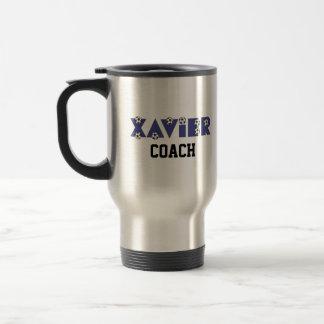 Xavier in Soccer Blue 15 Oz Stainless Steel Travel Mug
