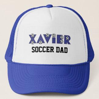 Xavier in Soccer Blue Trucker Hat