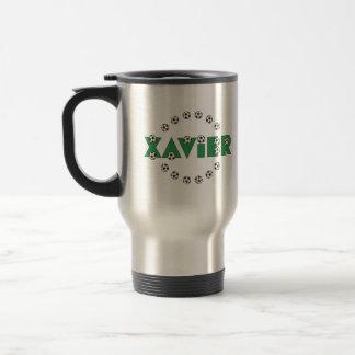 Xavier in Soccer Green 15 Oz Stainless Steel Travel Mug