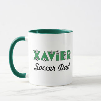 Xavier in Soccer Green Mug