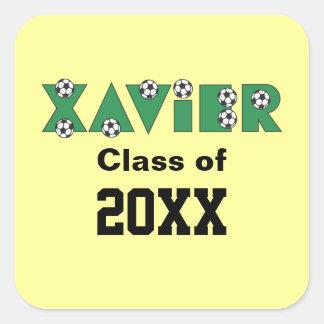 Xavier in Soccer Green Stickers