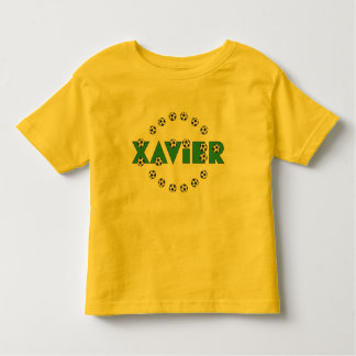Xavier in Soccer Green Toddler T-shirt