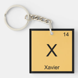 Xavier Name Chemistry Element Periodic Table Keychain