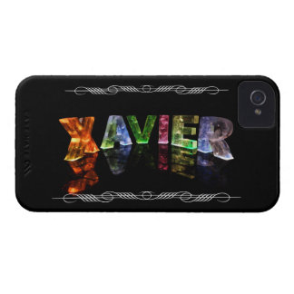 Xavier  - The Name Xavier in 3D Lights (Photo) iPhone 4 Cover