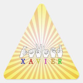 XAVIER TRIANGLE STICKER