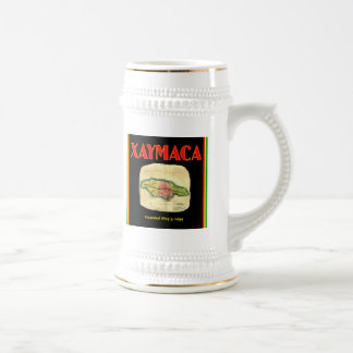 Xaymaca, founded May 3, 1494 - Jamaica Map Beer Stein