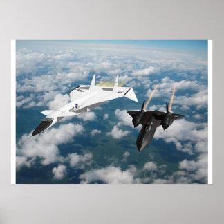 XB-70 & SR-71 poster