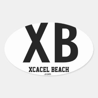 XB Xcacel Beach Oval Bumper Sticker