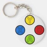 Xbox 360 basic round button keychain