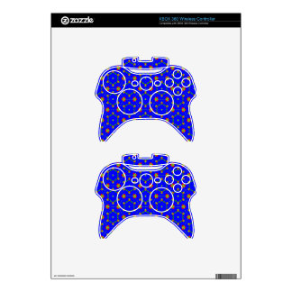 Xbox 360 controller Skin with Blue August Design
