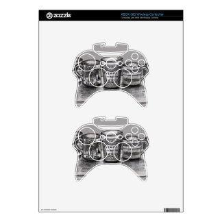 Xbox 360 controller Skin with Coffee Cup Art