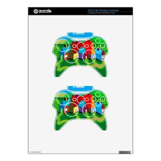 Xbox 360 controller Skin with Folk Art