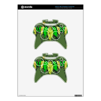 XBox 360 Controller Skin with Leafy Design