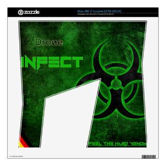 XBox 360 S (2010) DRONE Infect Skin Xbox 360 S Console Skin