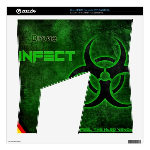 XBox 360 S (2010) DRONE Infect Skin Decal For Xbox 360 S